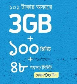 Grameenphone Reactive Sim 3GB + 100 Minute